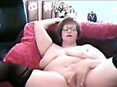 Chubby Amateure Apfelsorte Granny masturbieren vor der Webcam