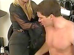 British slut Yvonne gets fucked up the arse in hold-ups