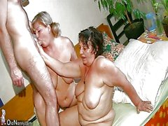 Old mollig Granny verfügt Massage Dicke Frauen reifer Krankenpflegepersonal