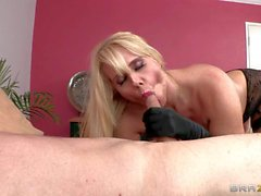 Respectable big racked MILF Karen Fisher gets banged