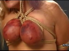 slave goes up via the breasts
