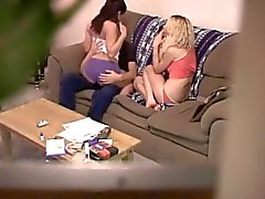 amateur threesome on hidden cam
