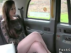 Beautiful British girl deep throats
