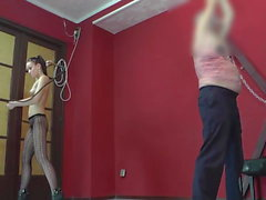 fit young cruel mistress pantyhose brutal whipping