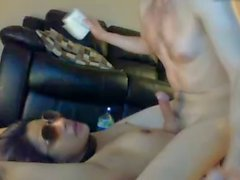 hot british girl fucked on cam with belt around her neck