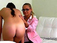 French amateur has lesbian casting