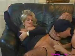 Chubby mature blonde wife Karola trades head and gets drilled