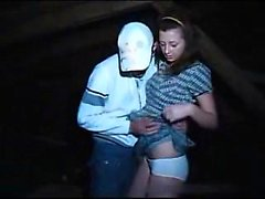 Attractive brunette buddy in barn fucked teenage woman