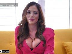 BANG Confessions - enganando esposa Ariella Ferrara fode o cara piscina
