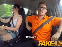 Fake Driving School Мессиальный кульминационный момент для сексуального обмана