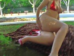 sexy teen brooke flashing nude in public u.s.a. streets
