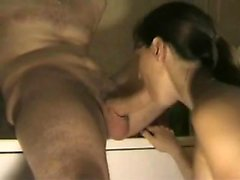 Blowjob on the table Larraine from 1fuckdatecom
