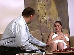 Granpa tricks his son's gf into family taboo