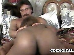 Cute ebony babe Sade gets her pussy nailed hard until she