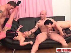French milf double penetration with cumshot