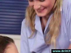 British CFNM nurse taking cum facial from older guy