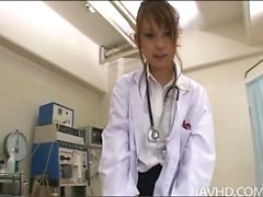 Horny nurse Ebihara Arisa gives her male patient an unusual