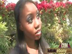 Interracial ebony babe group bukkake 14