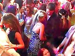 Bisexuella tjejer knullar kukar med vild fest