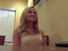 Blonde Sugarbaby Inseminated Twice By Daddy During Audition