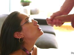 Chloe Amours glasses are covered in cum