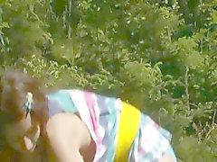 Fingrar slidan i skogen