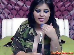 BBW sexcam slut dildofucks her pussy