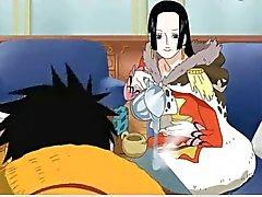 De Hancock de boa baise avec Luffy ( une pièce )
