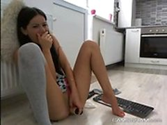 Sensuell Teen vilja Squirting