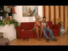 Hot blonde italian mamma