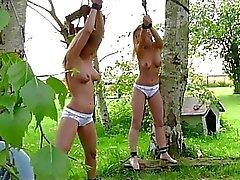 Os adolescentes loira pechugóas requintados perverteram em ao ar