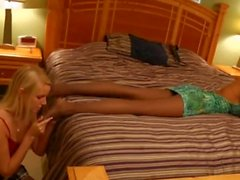 Seducing Danica with my Pantyhose Feet