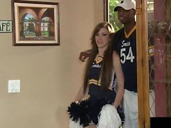 Jennifer White teasing football team by flashing her...