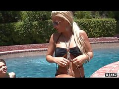 Three Hot Sluts Have A Pool Party With Kris Slater HD