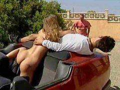 European porn in the parking