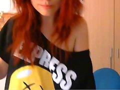 Big Tits Redhead Cam Model - CAMSHOTGIRL .COM
