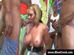 Bukkake party - Sexy sluts facial cumshot and interracial porn 14