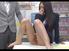 Morikawa Suzuka Told To Fuck New Male Talent In The Porn Office Fucks Him On Desk