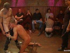 Blonde Hunk is Humiliated In A Bar Full Of Strangers - Scene 1