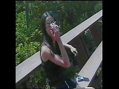 Asian Lesbian Teen lick & dildoing her girlfriend
