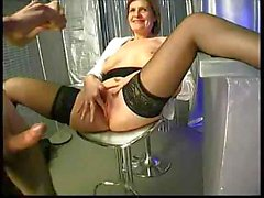 MILF lady wants some action in the kitchen a gets a hard cock