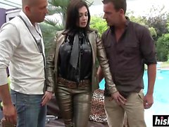 Cute Aletta gets double penetrated hard