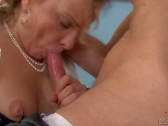 Danny gets his hands on mature Rebecca