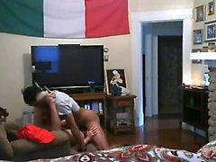 Brunette MILF cheats on her husband but is caught on hidden cam