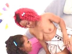 Chubby Ebony Girls Having Lesbian And Fuck With Dildo