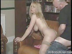 Lucy British Blonde Milf In Nylons