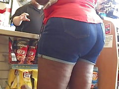 Denim Shorts Tjock Äldre Ebony Pt 2