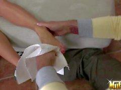Guy loves Natalia Forrest s asian legs and feet