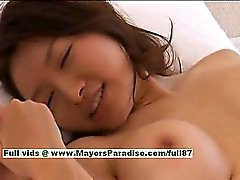 Mai Uzuki hot girl naughty Chinese chick gets nipples licked