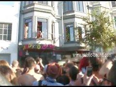 Homosexuell Twink fickte ans Fenster bei Wild Gruppensex mit Perverser Menschen